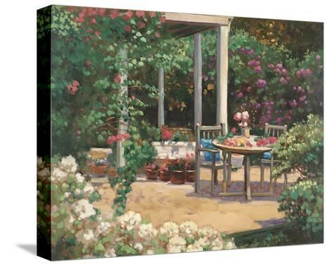 Posy Patio-David Weiss-Stretched Canvas Print