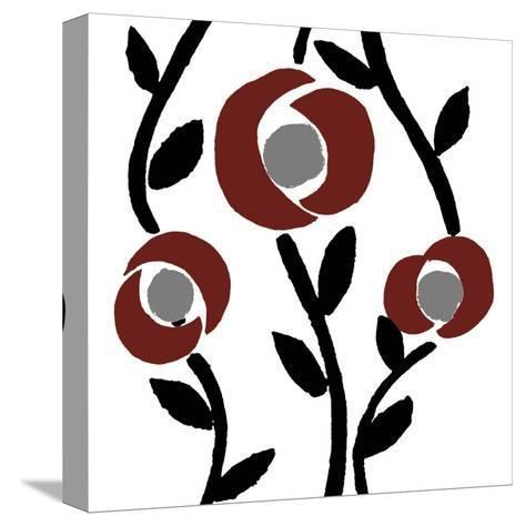 Fiori-blanc-Denise Duplock-Stretched Canvas Print