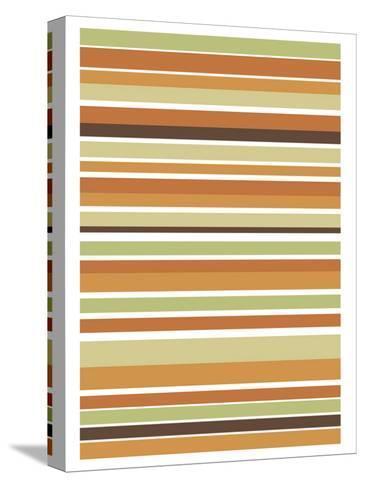 Terracotta Stripes-Denise Duplock-Stretched Canvas Print