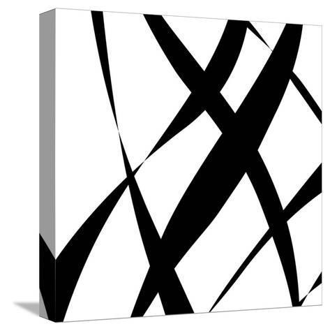 Fistral Nero Blanco II-Denise Duplock-Stretched Canvas Print