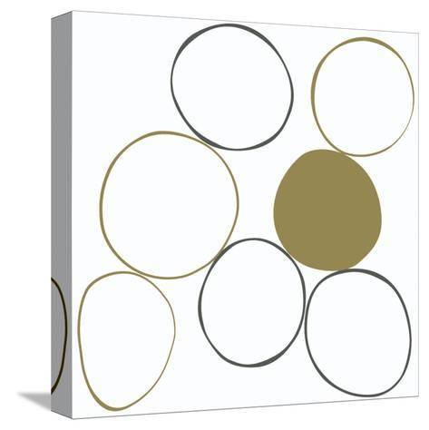 Taupe III-Denise Duplock-Stretched Canvas Print