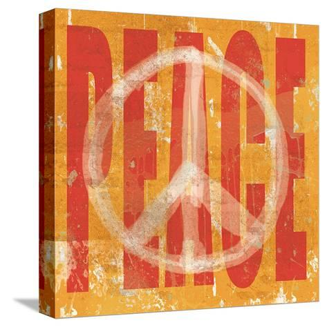 Think Peace-Erin Clark-Stretched Canvas Print