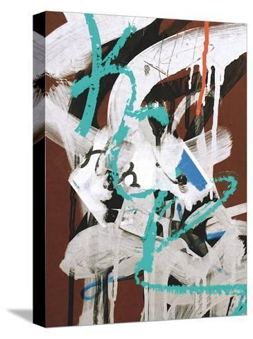 Aqua Tag I-Jenny Kraft-Stretched Canvas Print