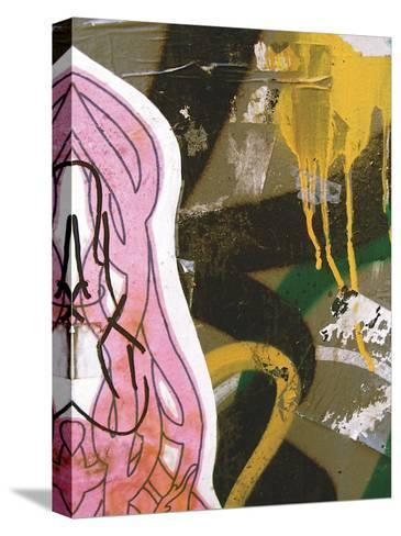 Pink Yellow Tag II-Jenny Kraft-Stretched Canvas Print
