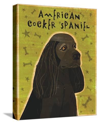 American Cocker Spaniel (black)-John Golden-Stretched Canvas Print