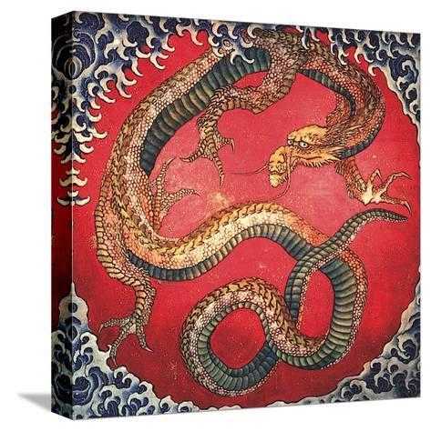 Dragon (detail)-Katsushika Hokusai-Stretched Canvas Print