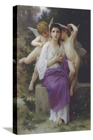 L'Eveil du Coeur-William Adolphe Bouguereau-Stretched Canvas Print