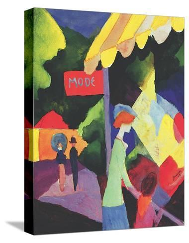 Fashion Store Window-Auguste Macke-Stretched Canvas Print