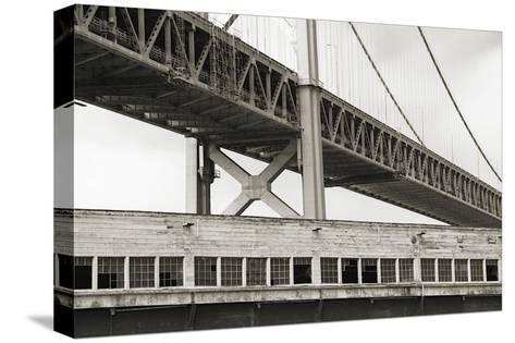 Bay Bridge and Pier, no. 1-Christian Peacock-Stretched Canvas Print