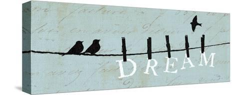 Birds on a Wire - Dream-Alain Pelletier-Stretched Canvas Print