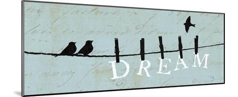 Birds on a Wire - Dream-Alain Pelletier-Mounted Art Print