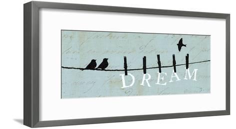 Birds on a Wire - Dream-Alain Pelletier-Framed Art Print