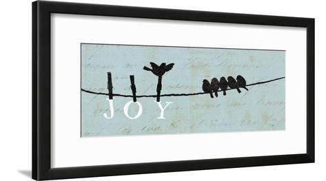 Birds on a Wire - Joy-Alain Pelletier-Framed Art Print