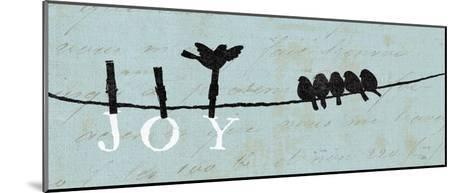 Birds on a Wire - Joy-Alain Pelletier-Mounted Art Print