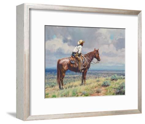 West Texas Cow Hunter-Martin Grelle-Framed Art Print