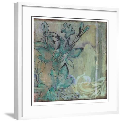 Teal Extraction I-Jennifer Goldberger-Framed Art Print