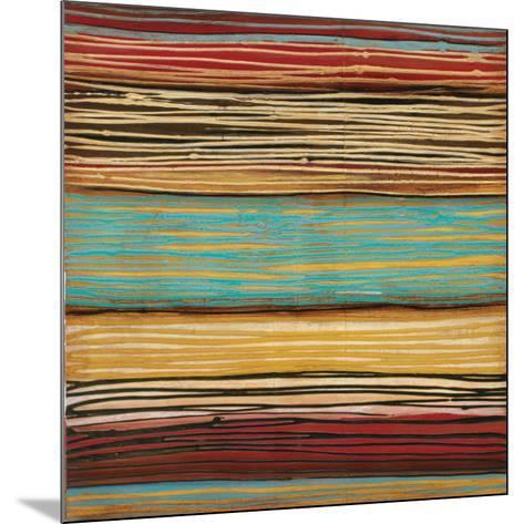 Seaside Stripes II-Susan Hayes-Mounted Art Print