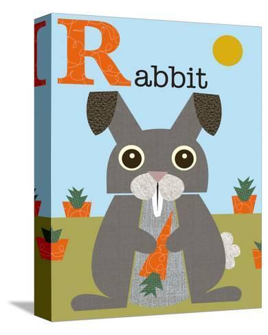 Rabbit-Jenn Ski-Stretched Canvas Print
