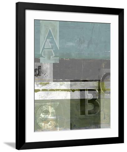 Letter Play I--Framed Art Print