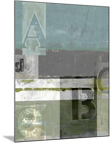 Letter Play I--Mounted Art Print