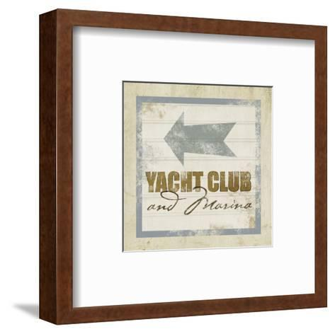 Beach Sign IX--Framed Art Print