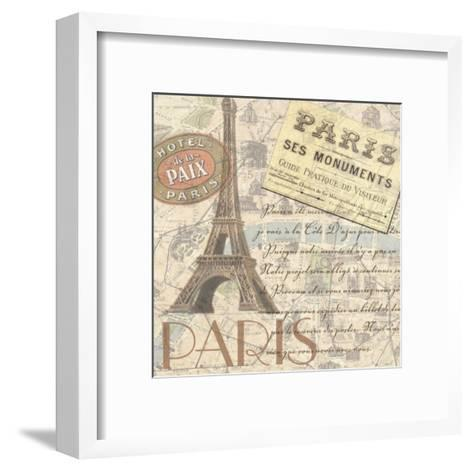 Travel Scrapbook IV-Linda Grayson-Framed Art Print