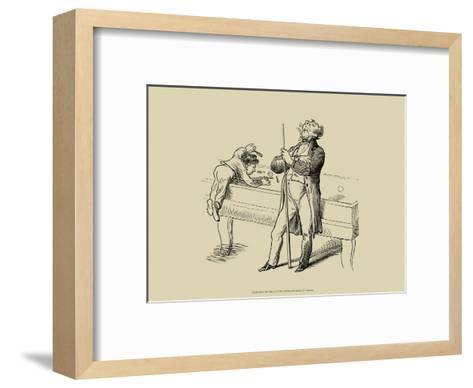 Pool Hall Antics VI--Framed Art Print