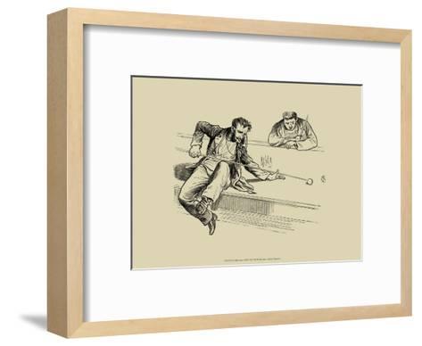 Pool Hall Antics VII--Framed Art Print