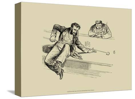 Pool Hall Antics VII--Stretched Canvas Print