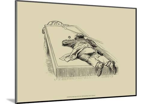 Pool Hall Antics IX--Mounted Art Print
