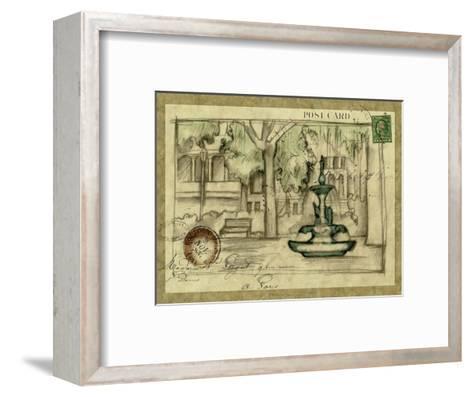 Small Postcard from the Villa I-Jennifer Goldberger-Framed Art Print