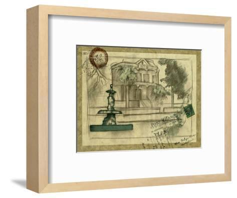Small Postcard from the Villa II-Jennifer Goldberger-Framed Art Print