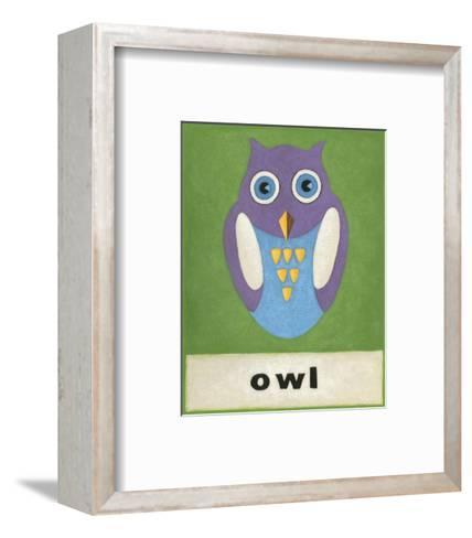 O is for Owl-Chariklia Zarris-Framed Art Print