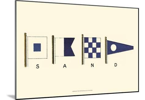 Sand--Mounted Art Print
