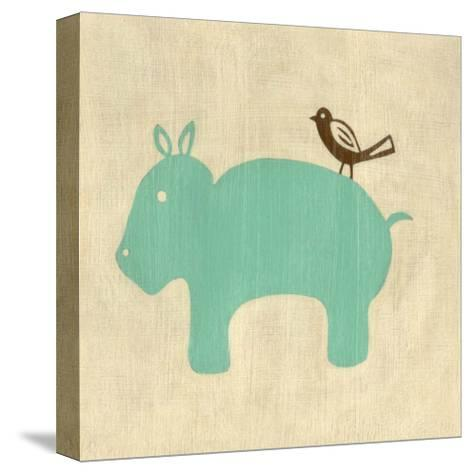 Best Friends - Hippo-Chariklia Zarris-Stretched Canvas Print