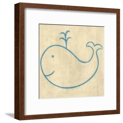 Best Friends - Whale-Chariklia Zarris-Framed Art Print