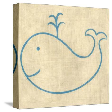 Best Friends - Whale-Chariklia Zarris-Stretched Canvas Print