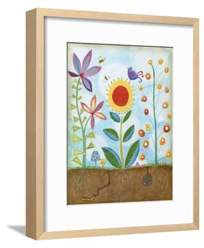 Whimsical Flower Garden II-Megan Meagher-Framed Art Print