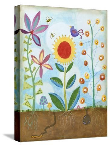 Whimsical Flower Garden II-Megan Meagher-Stretched Canvas Print
