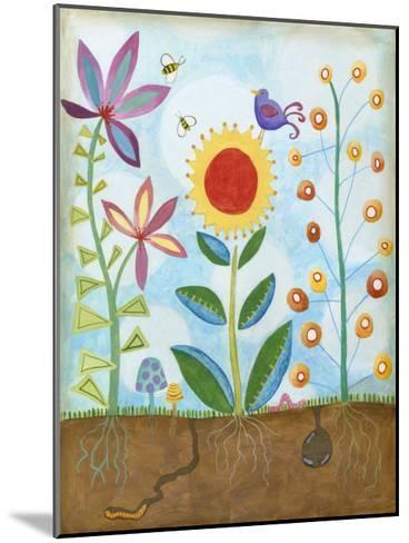 Whimsical Flower Garden II-Megan Meagher-Mounted Art Print