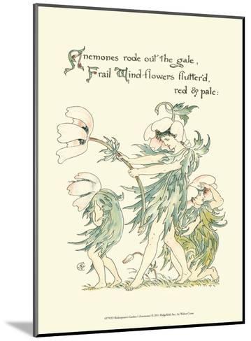 Shakespeare's Garden I (Anemone)-Walter Crane-Mounted Art Print