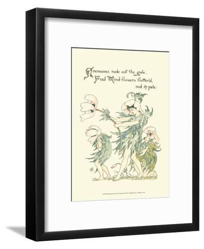 Shakespeare's Garden I (Anemone)-Walter Crane-Framed Art Print