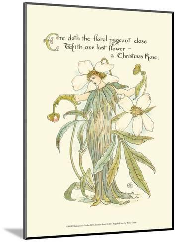 Shakespeare's Garden XII (Christmas Rose)-Walter Crane-Mounted Art Print
