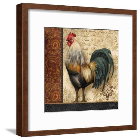 French Rooster I-Abby White-Framed Art Print