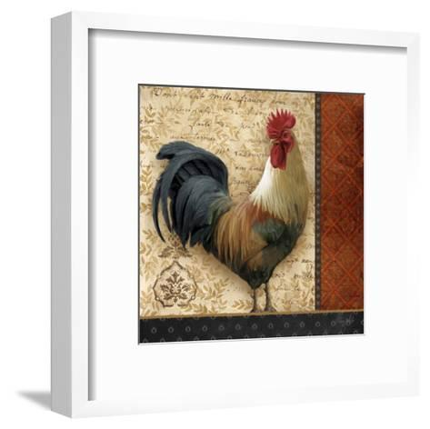 French Rooster II-Abby White-Framed Art Print