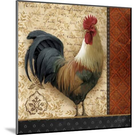 French Rooster II-Abby White-Mounted Art Print