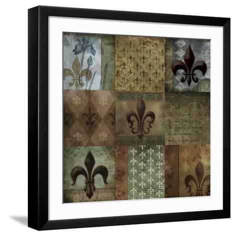 Fleur-de-lis 9-Patch--Framed Art Print