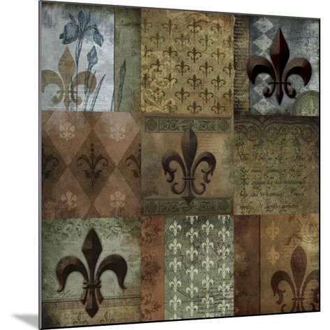 Fleur-de-lis 9-Patch--Mounted Art Print