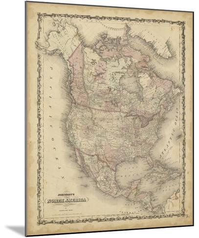 Johnson's Map of North America--Mounted Giclee Print