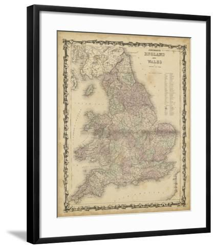 Johnson's Map of England & Wales--Framed Art Print